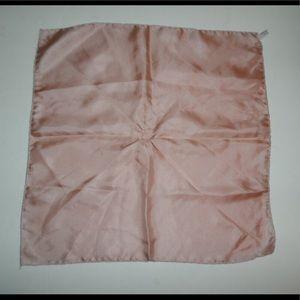 Vintage Light Pink Silk Pocket Square